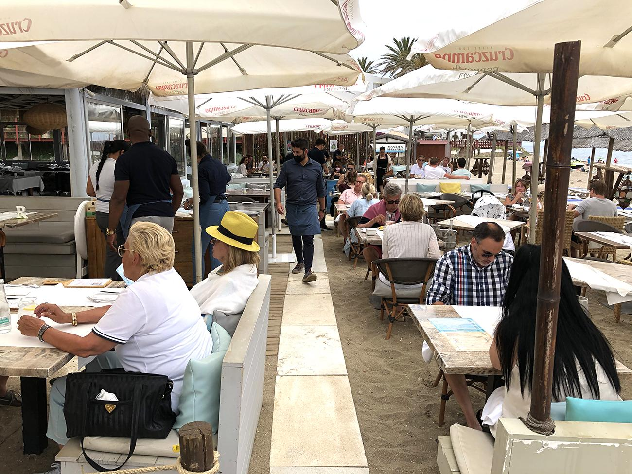 El chiringuito Luna Beach oferta una amplia variedad de sugerencias que cambia cada semana.