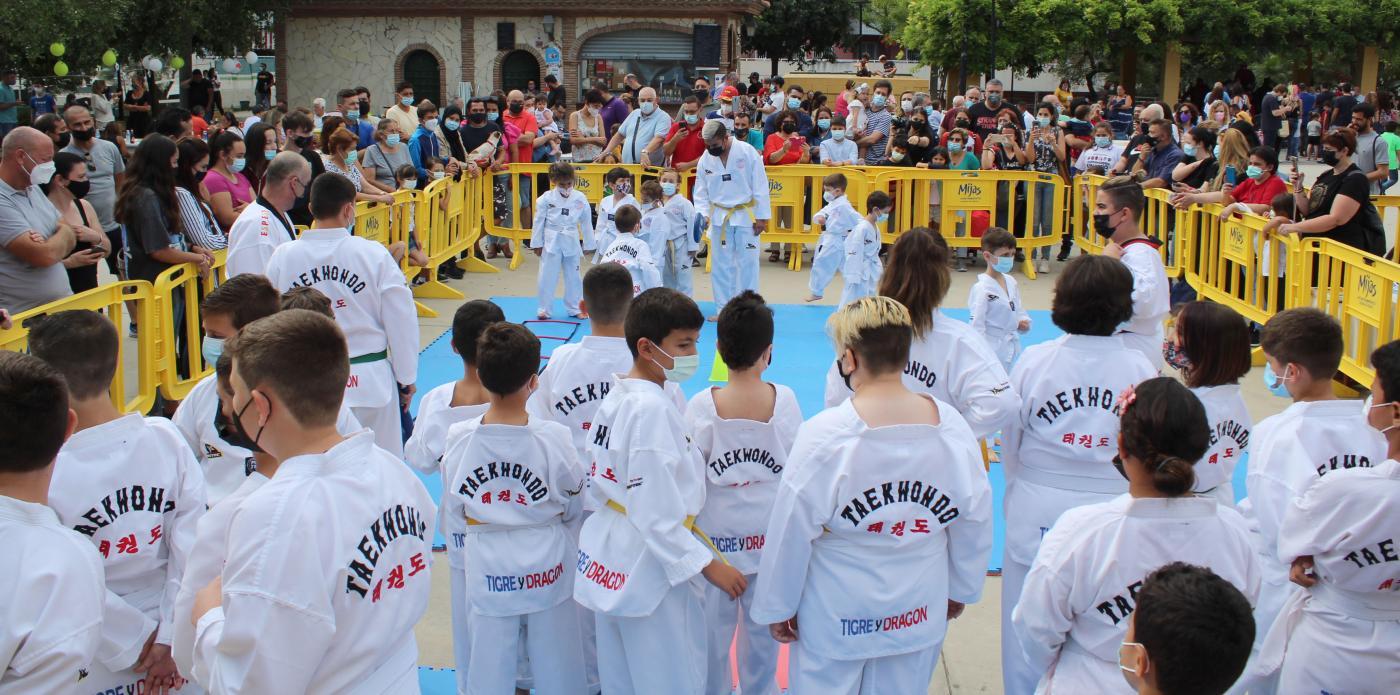 Exhibición de taekwondo de la escuela Tigre y Dragón de Mijas Costa.