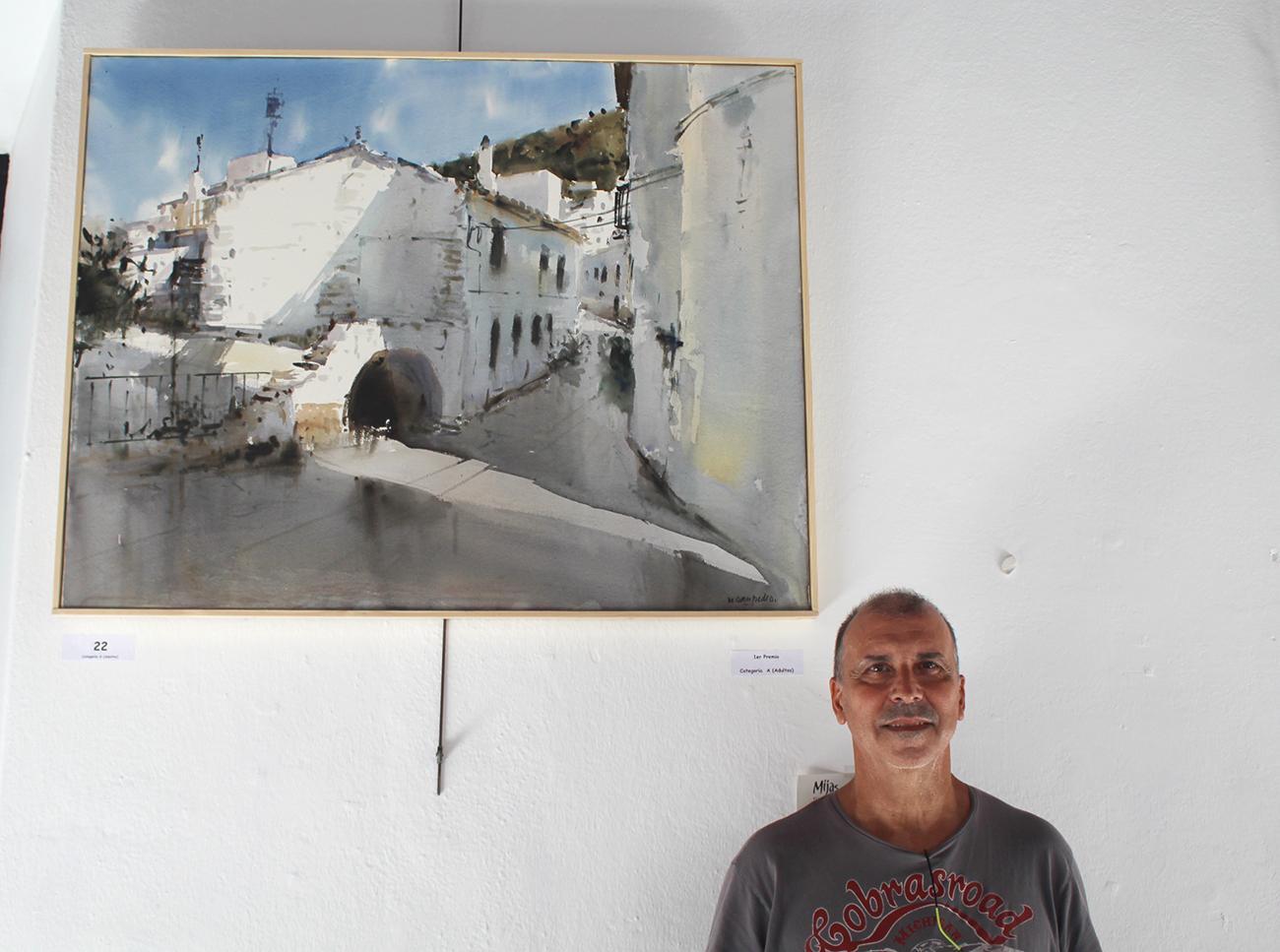 Miguel Sampedro, ganador del primer premio en la categoría de adultos