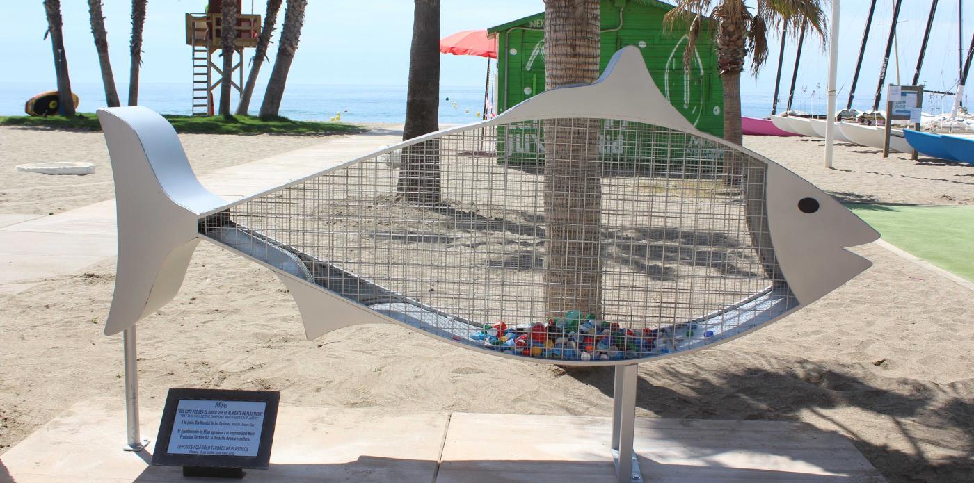 Se trata del primer depósito de tapones con esta forma que se habilita en el litoral mijeño.
