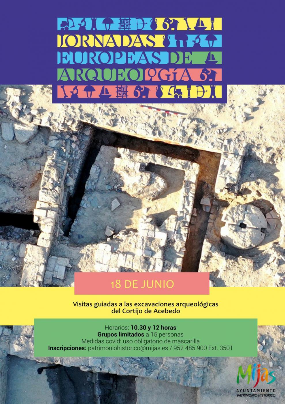 Cartel Jornadas Europeas de Arqueología.
