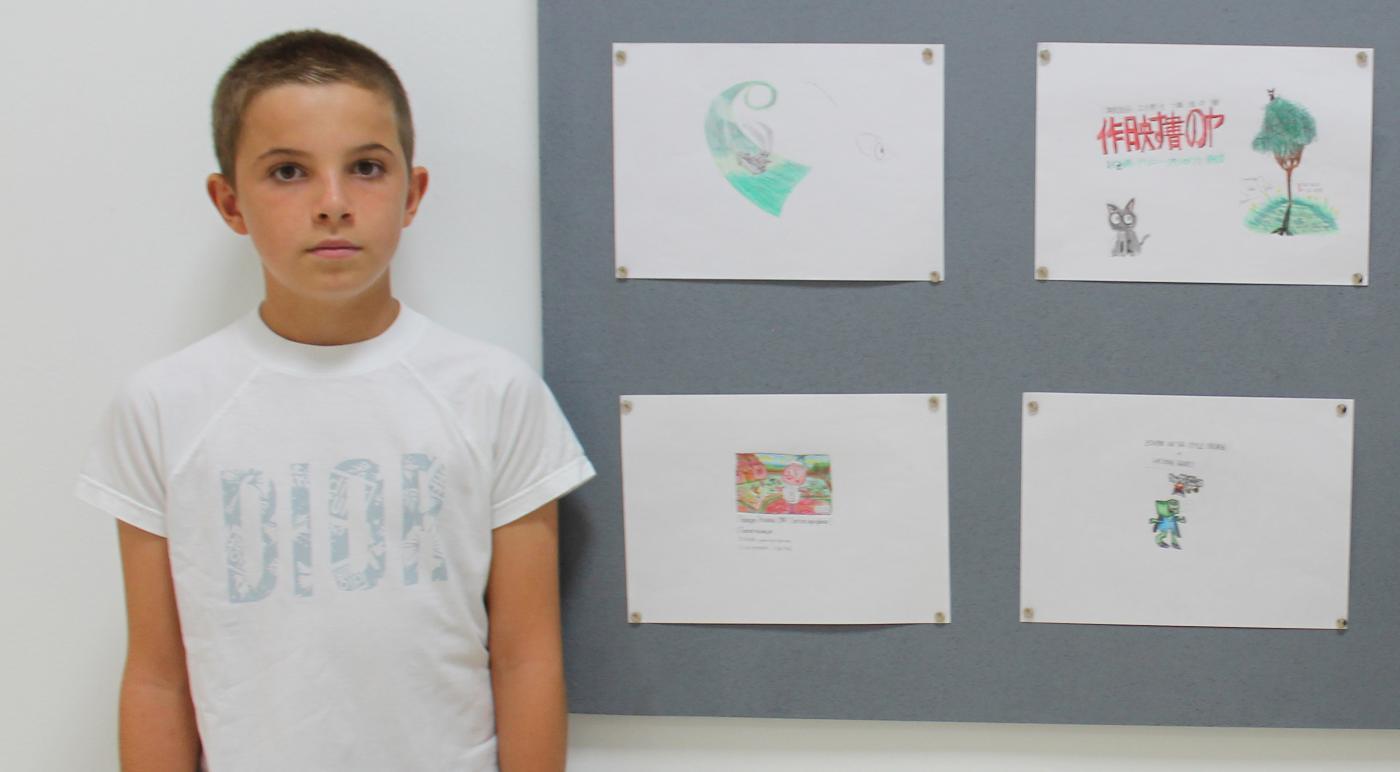 Bayron Musetescu, artista de tan solo 11 años.