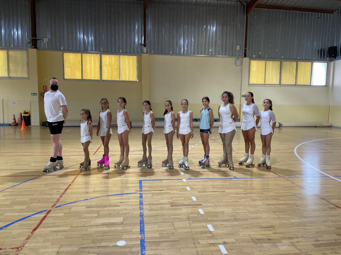 El CPM Patinaje se entrena en Las Cañadas durante este mes de julio.